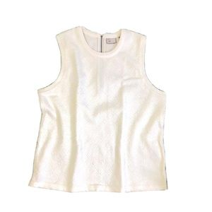 ANTHROPOLOGIE Postmark Sleeveless Quitted Top Sz M